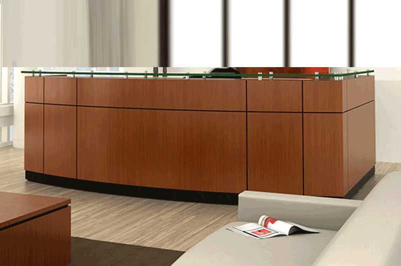 willow reception station office furniture by Friant