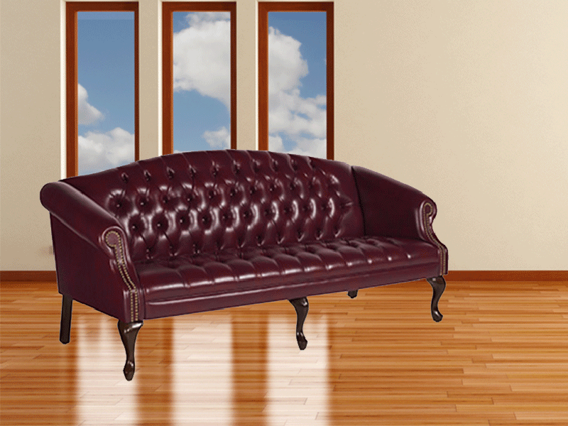 Traditional tufted couch office seating by global