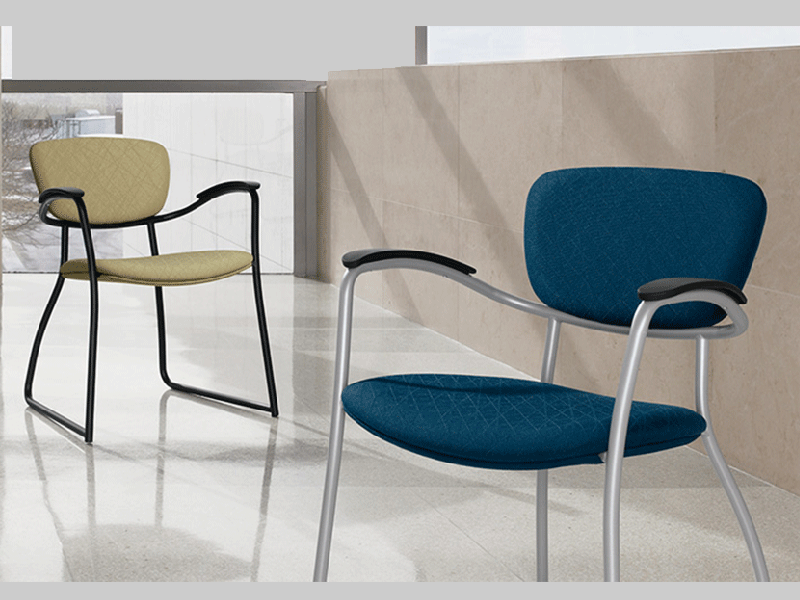 contemporary office guest seating