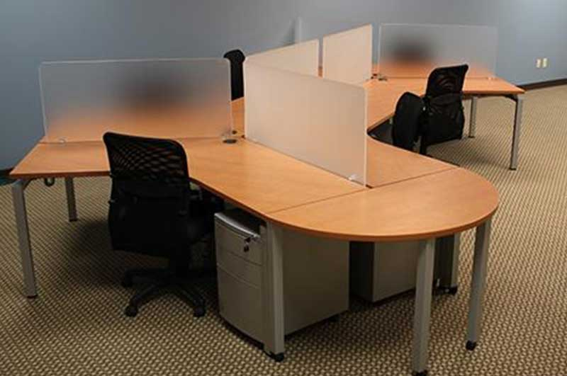 Open Benching Workstations by Blade by Clear Design