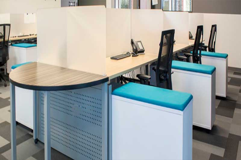 Blade Open Floor Plan Workstations by Clear Design
