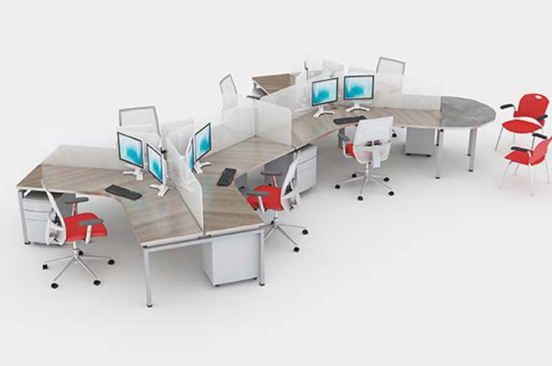 Blade open plan cubicles by Clear Design.