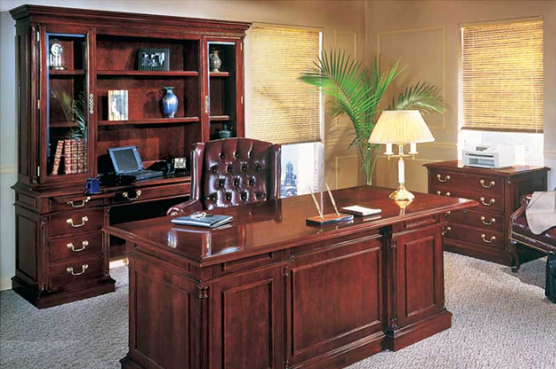 Superbe Executive Desk, Credenza U0026 Hutch   Keswic Series By DMI