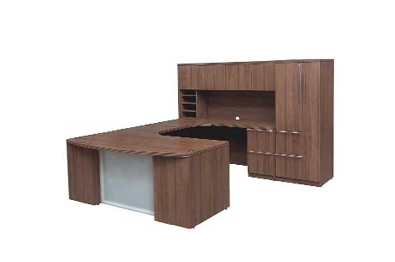 Laminate Executive Desk from DSA U-Desk by DSA