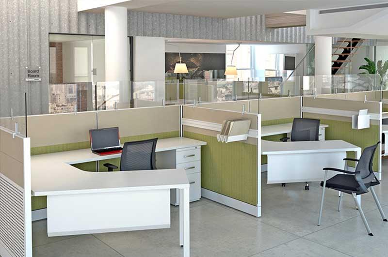 Cubicle Office Furniture Property modular desks - officemakers office furniture stores in