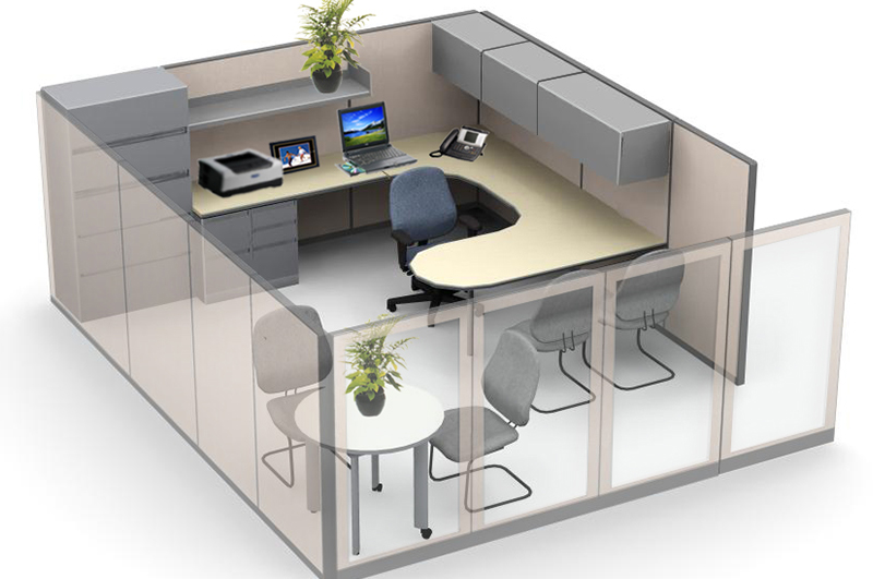 Refurbished Steelcase® Manager Station