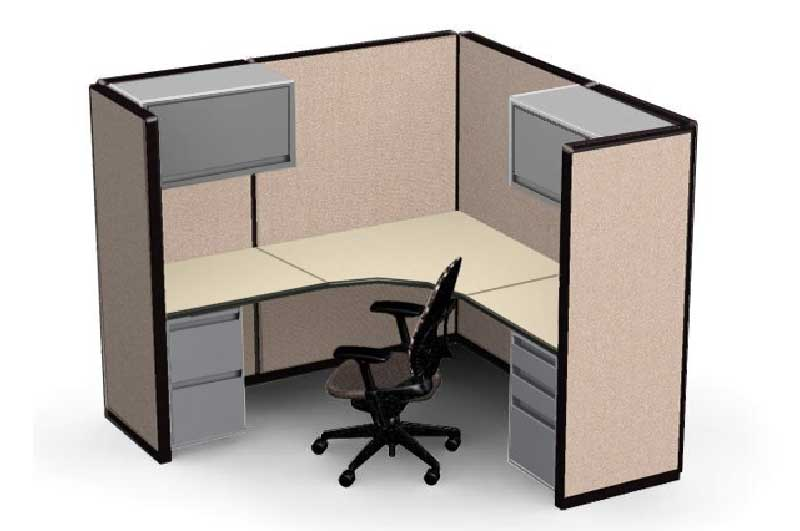 Refurbished Steelcase Cubicle - 6.4x6.4x65'h
