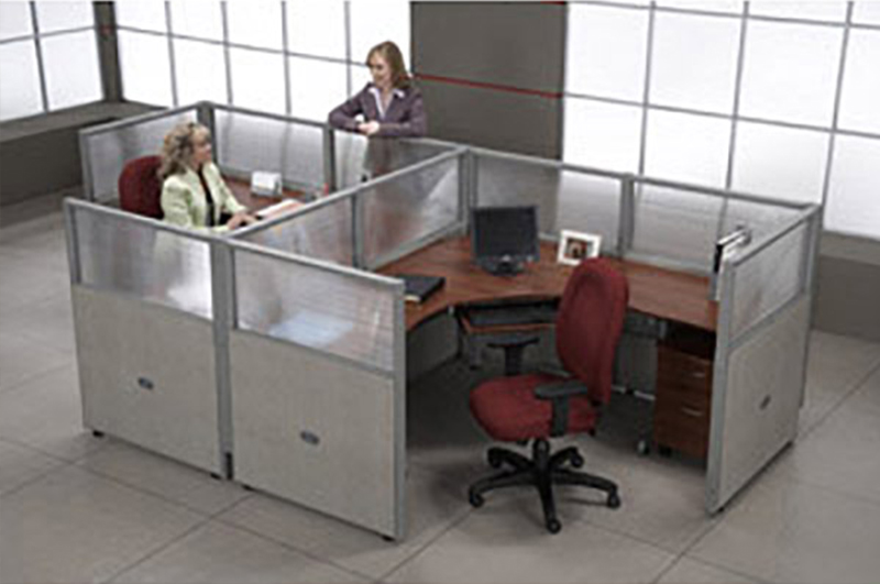 Two workstations - cubicles by OFM.
