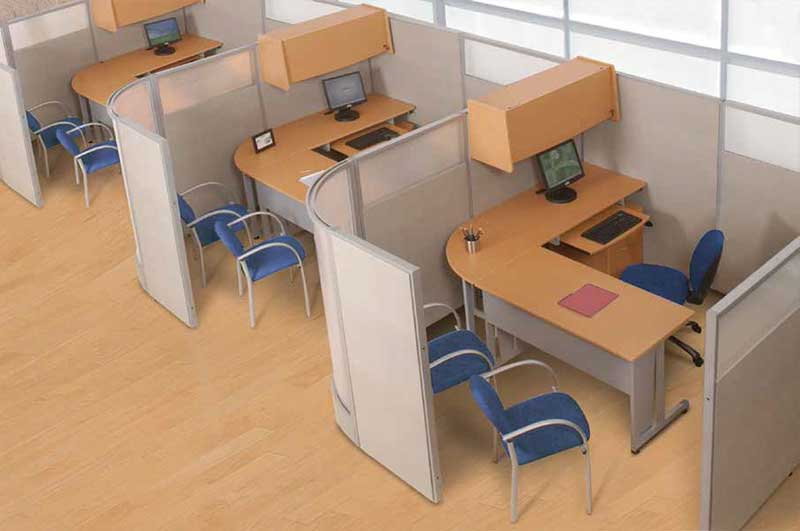 cubicles by ofm rize workstations