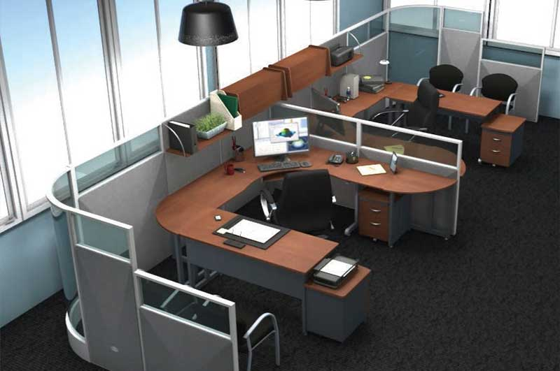 Contemporary manager's cubicle by OFM