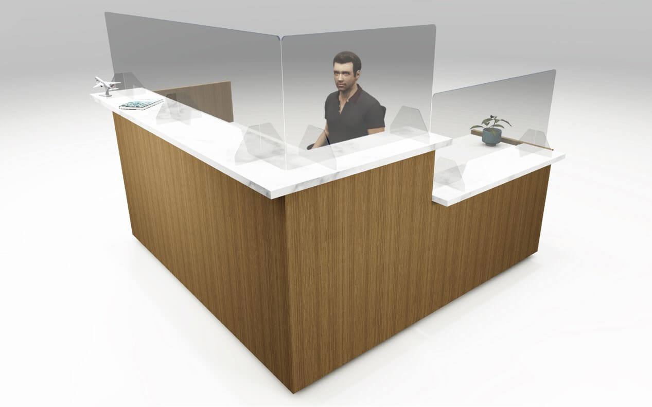 Reception Desk with protective screens