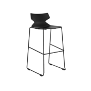 FLY Bar height stool-CD-17BS-B-FLY-CorpDesign-Black Polypropylene