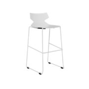 FLY Bar height stool-CD-17BS-W-FLY-CorpDesign-White Polypropylene