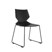 FLY Stacking chair-CD-17B-FLY-CorpDesign-Black Polypropylene