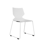 FLY Stacking chair-CD-17W-FLY-CorpDesign-White Polypropylene